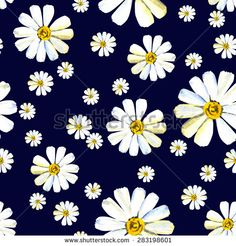 Stock Images similar to ID 132220775 - seamless background with daisy...