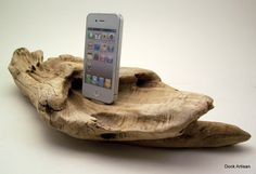 Beach Driftwood iPhone Dock by dockartisan on Etsy, $135.00