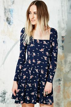 Kimchi Blue Chalotte Circle Dress in Navy