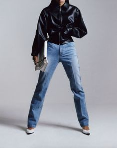 Autumn Winter Fashion, Fall Winter, Men Closet, Neutral Outfit, What To Wear, Mom Jeans, Normcore, Feminine, Leather Jacket