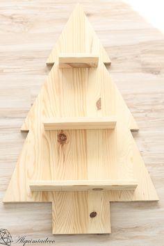 DIY: Arbol de navidad de madera                                                                                                                                                                                 Más
