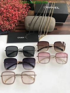 Chanel Glasses, Round Lens Sunglasses, Classy Heels, Chanel Fashion, Sunnies, Shoes Heels, Coding, Shades, Free Shipping