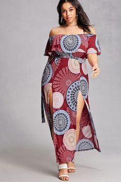 FOREVER 21+ Plus Size Ornate Maxi Dress