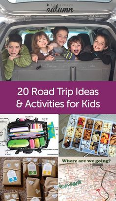 Road Trip coming up? Check out this post for links to the very best activities, snacks, and tips for road trips with kids - find hundreds of ideas all in one place! Road Trip With Kids, Family Road Trips, Travel With Kids, Family Travel, Family Getaways, Family Vacations, Road Trip Activities, Activities For Kids, Airplane Activities