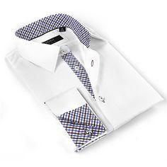 Coogi Luxe Men's White Button Down Dress Shirt (Large) (cotton) Mens White Shorts, White Shirt Men, White Shirts, White Button Down, Button Down Dress, Mens Shirt Pattern, Shirt Patterns, Cool Shirts, Men's Shirts