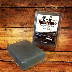 Race Day scented soap 3oz. Bar www.ManHandsSoap.com