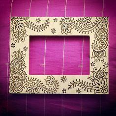 4x6 inch Wood Henna Mehendi Frame with arabic by NewWorldHenna, $30.00