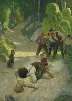 N. C. Wyeth - The Little Shepherd of Kingdom Come (by John Fox, Jr.), 1931 (4 of 17)