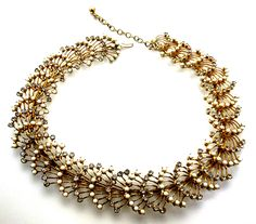 Gold tone choker necklace  #Goodwill #GoodwillFinds #SeattleGoodwill #SparkleSale #Jewelry #Accessories #Fashion #Style