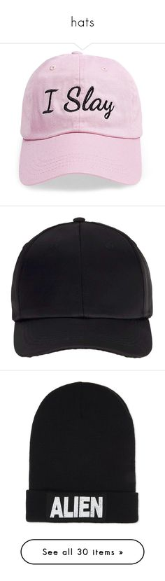 hats by courageousmind on Polyvore featuring polyvore, women's fashion, accessories, hats, filler, lt pink, mens caps and hats, caps, acessorios, bags and hats, black, baseball caps hats, ball cap hats, miss selfridge, satin cap, baseball hat, beanies, beanie caps, ribbed beanie hat, cotton hat, beanie hats, beanie cap hat, beanie, green, green beanie hat, y-3 hat, y-3 beanie, cable knit pom pom hat, cable knit hat, pompom hat, pom pom beanie hat, pom beanie, ribbed knit hat, rib knit hat…
