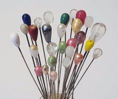 Vintage Antique Hatpin Hat Stick Pins Glass Faux Art Deco Jewelry Nouveau Push