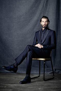 berluti f/w 12 bearded suit