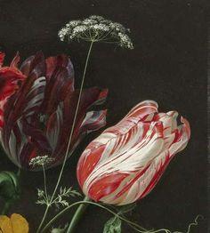 Stilleven met bloemen in een glazen vaas, Jan Davidsz. de Heem, 1650 - 1683 - Bloemstillevens-Verzameld werk van Tea van Walraven - Alle Rijksstudio's - Rijksstudio - Rijksmuseum