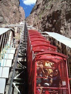 Royal Gorge - Colorado. We rode this to the bottom & it was so steep & scary & then we had to take it back up. Quite an experience.