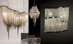 Love the unique beauty of these chandeliers! Barlas Baylar Lighting