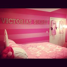 my victoria's secret room (:..woulda been cute in maybe HS ..