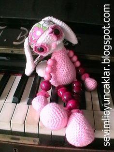 Crochet Bunny by Denizmum on Etsy, $57.00