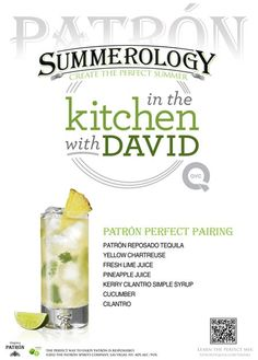 Patron Perfect Pairing Drink #Recipe from @David Nilsson Nilsson Venable QVC