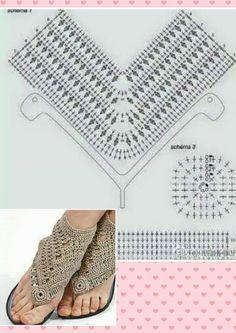Discover thousands of images about Zuzana Mikulcová-Genžová Crochet Slipper Pattern, Crochet Motif, Crochet Designs, Crochet Patterns, Crochet Sandals, Crochet Boots, Beaded Shoes, Crochet Flower Tutorial, Crochet Stars