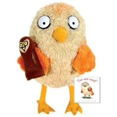 """'""""I'm Not Cute"""" Owl Plush Doll from Jonathan Allen Book"""