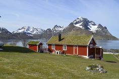 Grass topped roof with an amazing view across the norwegian landscapes!