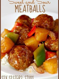 Slow Cooker Sweet and Sour Meatballs...Beef
