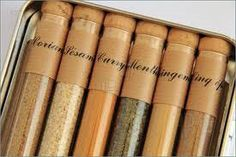 6 Pack of Herbs and Spices in test tubes/ emergency food 911 by CraftGaia47 on Etsy