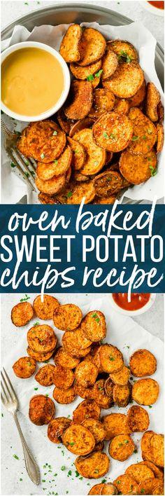 Oven baked sweet potato chips
