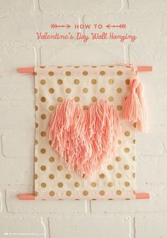 This whimsical wall hanging is just one of many fabulous Valentine's-inspired craft ideas from Hallmark blog, thinkmakeshare.com. Click here to download instructions for creating your own—makes a great gift for a friend or a child's teacher.