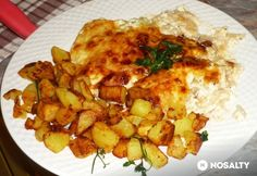 Tepsis sajtos-tejfölös csirkemell | NOSALTY Meat Recipes, Real Food Recipes, Cooking Recipes, Hungarian Recipes, Hungarian Food, Chicken Rice, Sweet And Salty, Macaroni And Cheese, Nom Nom
