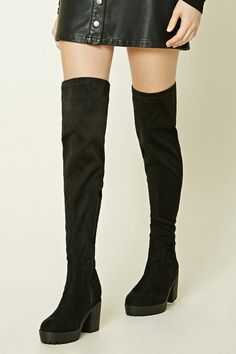 7557b6f3060 Just say yes to thigh-high boots and add the Lost Ink Gain Stretch ...