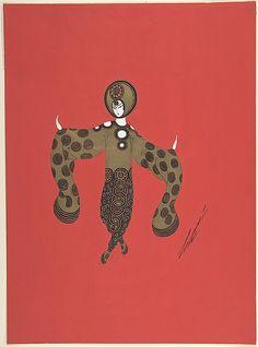 """Costume design for """"Les Cercles""""  Erté (Romain de Tirtoff) (Russian, Petrograd 1892–1990 Paris)"""