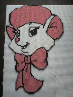 Bianca The Rescuers hama perler by marmotte88130