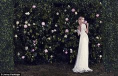 Jenny Packham - The Venetia is the most romantic of the dresses with lace cap sleeves, a low back and soft sheer layers