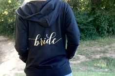 Bride Hoodie Jacket - Bride Zipup - Wedding Day Hoodie - Bachelorette - Bachelorette Party Hoodie - Bridal Jacket - Future Mrs. by GoldandGlamour on Etsy