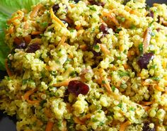 Curried Quinoa Salad with Cranberries and Carrots (plus other quick salad recipes)
