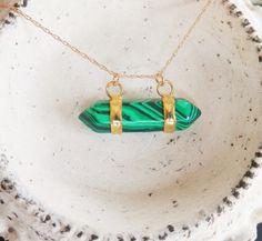 Geometric Harness Gemstone Point Necklace // by ransomjewelry