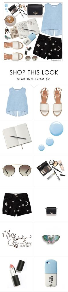 """Just chillin"" by vespagirl ❤ liked on Polyvore featuring Steve J & Yoni P, Topshop, Prada, Borghese, Savannah, Lanvin, L. Erickson and Sigma Beauty"
