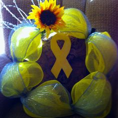 Suicide prevention wreath. Ready to make this for september 10th
