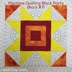 The Free Motion Quilting Project: Machine Quilting Cabin Fever - Block #7