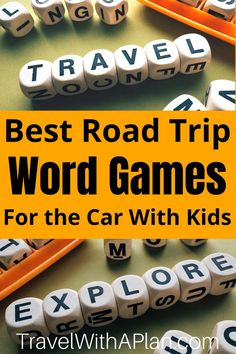 Get the list and directions for our favorite Road Trip Word Games to play in the car! These road trip games ensure plenty of family involvement and lots of laughter! Add some fun to your next family road trip! Road Trip With Kids, Family Road Trips, Travel With Kids, Family Travel, Road Trip Activities, Road Trip Games, Best Family Vacation Spots, Vacation Ideas, Celebrity Name Game