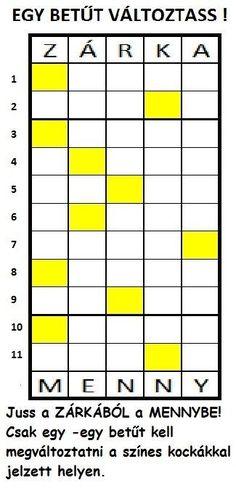 EGY BETŰT VÁLTOZTASS 8 - Ezen az oldalon Bibliai ihletésű, rejtvényeket találhattok rejtvénytípusonként csoportosítva.