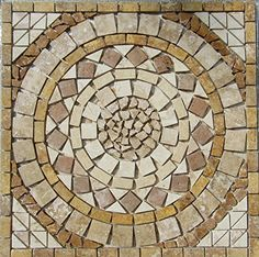 "24"" Tumbled Travertine Indoor or Outdoor, Floor or Wall Art Medallion Mosaic By: Stone Deals Stone Deals http://www.amazon.com/dp/B015EJRGIK/ref=cm_sw_r_pi_dp_vlm-vb0ZCJS67"