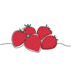 Strawberry Drawing, Strawberry Fruit, Symbol Design, Sign Design, Web Design, Fruit Illustration, Food Illustrations, Organic Molecules, Fruit Vector
