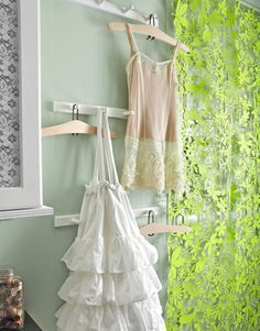 Cute idea: Use shaker pegs in the laundry room to hang delicates to dry.