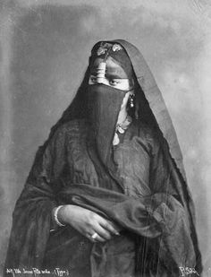 Africa | Portrait of a young Arab woman/girl. Egypt. ca. 1880. © Sebah