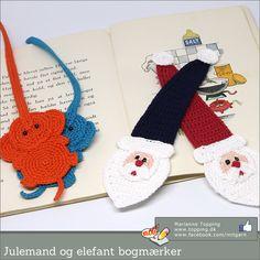 Masser af hæklede bogmærker Crochet Christmas, Bandanas, Crochet Earrings, Mad, Caps Hats, Bookmarks, Dogs, Crochet Christmas Cozy, Bandana