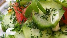 Dressing, Yummy Food, Tasty, Healthy Salad Recipes, Pickles, Cucumber, Vitamins, Delicious Food, Pickling