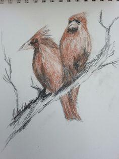 Birds .. kohle und Rötelstifte♡♡#drawingisra My Drawings, Art Photography, Bird, Painting, Animals, Beautiful, Charcoal, To Draw, Animales