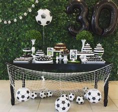 Birthday party ideas for adults decoration ideas Birthday party ideas for adults decoration can find Soccer party and more on ou. Sports Themed Birthday Party, Soccer Birthday Parties, Birthday Party Snacks, Football Birthday, Adult Birthday Party, Soccer Party, Soccer Banquet, Sports Party, Soccer Baby Showers